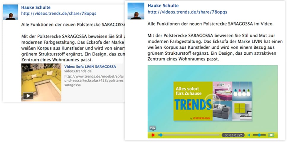 ideo-Postings bei Facebook